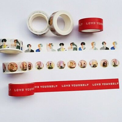 KPOP BTS LOVE YOURSELF 结 Answer Washi Tape Paper Maksing DIY Scrapbook Stickers