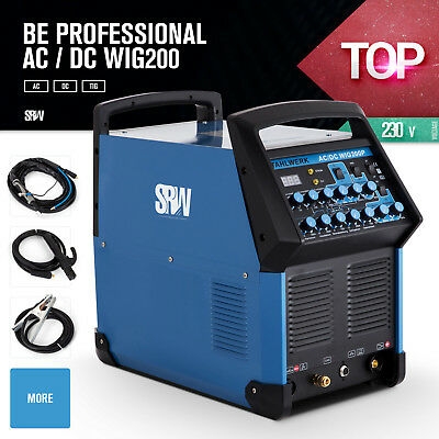 Welder WIG AC/DC 200P TIG PULSE Welding Stick Inverter Machine Soldering 220V