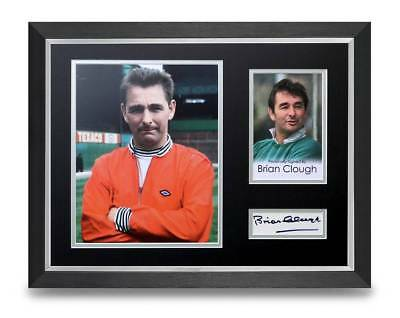Brian Clough Signed 16x12 Framed Photo Display Nottingham Forest Autograph + COA