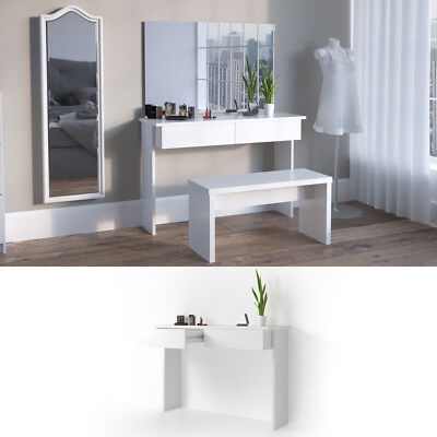 "VICCO Dressing Table ""Azur"" White High Gloss - Cosmetic Table Make Up Vanity"