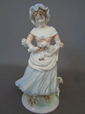 """Beautiful Limited Edition ROYAL WORCESTER Figurine """"The Shepherdess"""" 1530/9500--"""