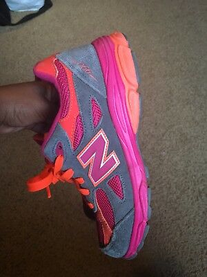 online store 88b85 0a888 New Balance Shoes Grade School 990 Pink Orange  Grey Running Sneaker size 5y