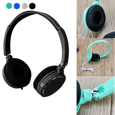 3.5mm Wire Foldable Headphones Stereo Headset Earphone For Samsung For Iphone