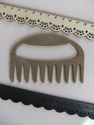 1 Peg Loom Comb for Weaving With Any Looms *NEW* Made From ECO Plastic Bronze!