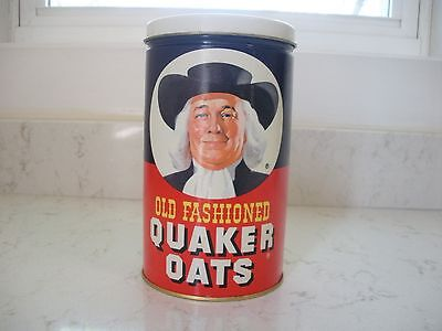 vintage Quaker Oats tin 1982 Promotional limited edition cookie recipe on back