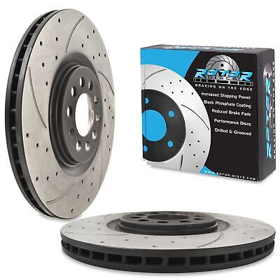 FRONT VENTED 312mm BRAKE DISC PAIR FOR AUDI A3 S3 8L TT 1.8T 1.9 TDI QUATTRO 98+