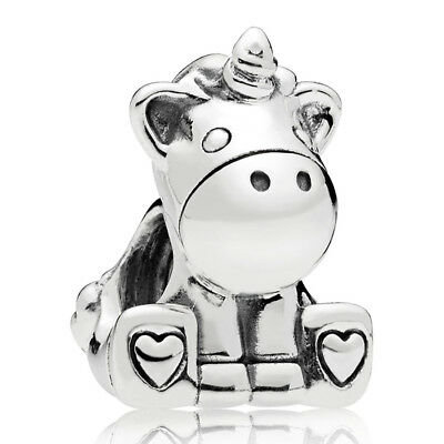 PANDORA Charm Element 797609 Unicorn Einhorn Silber