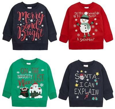 e07a44f3c859c2 Boys Girls Toddler Santa Snowman Holly Christmas Sweater Xmas Jumper 2 - 6  Years