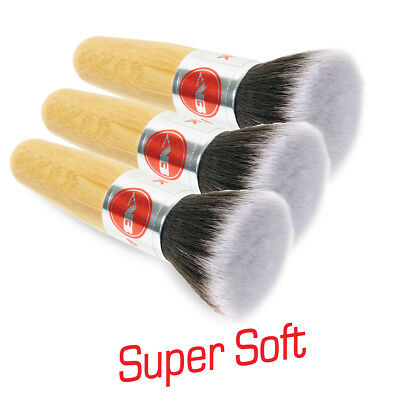 3 Super Soft Detailing Brushes for Car Cleaning Vents Dash Trim Seats Autobright