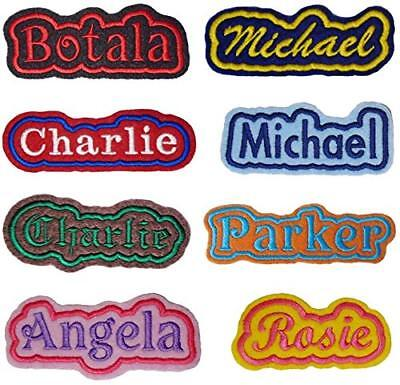 Custom Embroidered Felt Patch Personalized Name Iron On Sew with Outline Border
