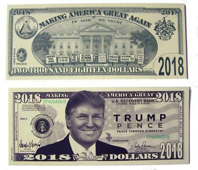 25 Bills Of Fake Trick Donald Trump Pence Dollar Bill Play Money Dollars