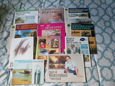 Lot Of 8 Vintage Pitman Art Instruction Books Drawing Sketching