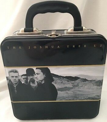 U2 The Joshua Tree Metal Square Tin Tote Lunch Box 2010 Collectible