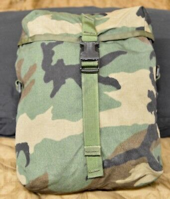 Sustainment Pouch Woodland Camouflage  USGI USMC Military Surplus Rucksack