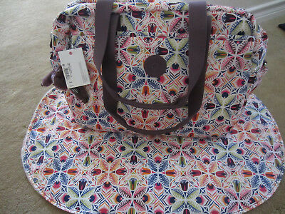 New Kipling TM5558 Popper Baby Diaper Bag with Changing Pad Vibrant collage $159