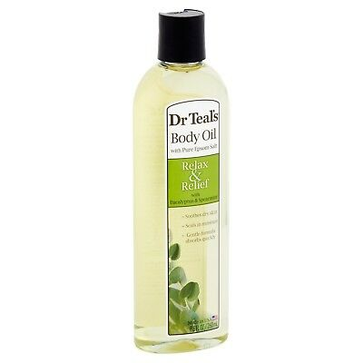 BRAND NEW! Dr. Teal's Relax Relief with Eucalyptus Spearmint Body Oil, 8.8 fl oz