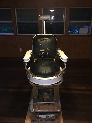 Antique Theo A Kochs Barber Shop Chair