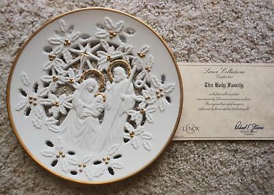Lenox The Holy Family 1993 fine pierced-porcelain plate Accented in 24K gold