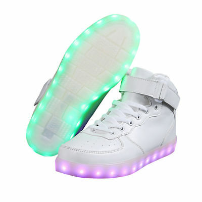 Unisex LED Light Up High Top Shoes Lace Up Luminous Casual Sportswear