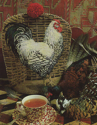 Kaffe Fassett Rooster Tea Cosy Chicken Needlepoint Chart in Colour