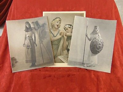 Hendrickson ORIGINAL PHOTO LOT of 3 The Romans and the Egyptian