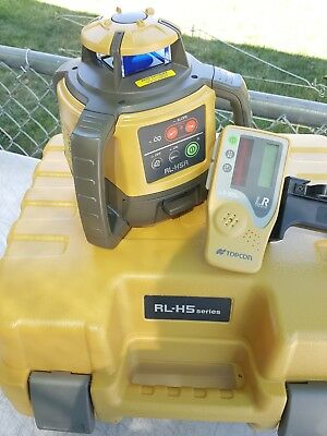Topcon Model RL-H5A Rotating Laser Level with LS-80L  Laser Receiver