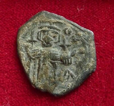 Lot of two interesting Eastern Byzantine follis