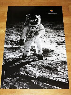 APPLE THINK DIFFERENT POSTER - BUZZ ALDRIN / 24 x 36 by STEVE JOBS 91 x 61 cm