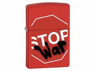 Zippo Red Matte Stop War Lighter 28140