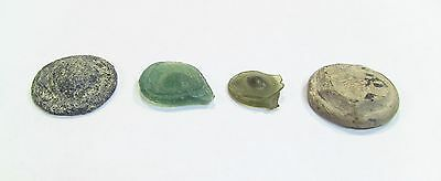 + RARE! AUTHENTIC Byzantine/Arabic VI-VIII AD Lot of 4 GLASS Exagia Exagium