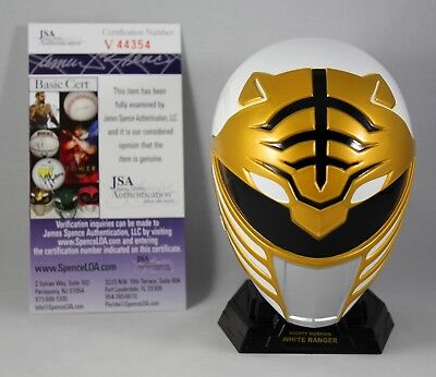 Jason David Frank Signed White Ranger Power Rangers Legacy Mini Helmet Rare +Coa