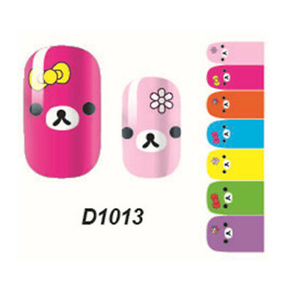 1pc Cute Girl's 'Art Decals Nail Wraps Sticker Adhesive Polish Foil Decoration