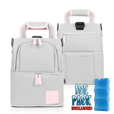 Baby Diaper Bag and Baby Bottle Tote Bag - Keeps Food and Baby Milk Cool New