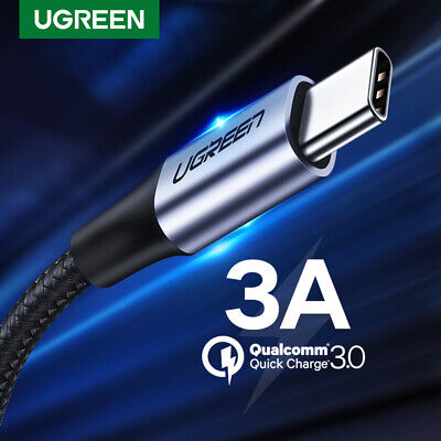 Ugreen USB Type C Cable Braid Fast Charger Data Cord for Samsung S9 S8 LG G6 HTC