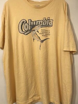 98fbeb37a63 Columbia Performance Fishing Gear Mens Swordfish Graphic Tee Shirt 2XL