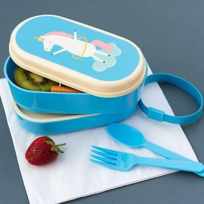 NEW Rex International Small Bento Box - Unicorn - Lunch Box