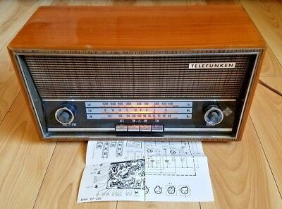 TELEFUNKEN JUBILATE 205 Vintage Radio AM/FM/SW Electric Schematic Made in Italy