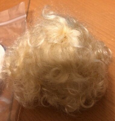 Vintage Doll Wig Model VIENNA Size 6-7 Light Brown 100/% Mohair By Global Dolls