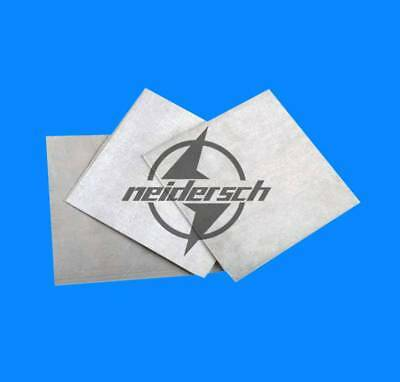 1PCS Magnesium Foil Small Sheet  2x100x100mm (very thick) 99.8%