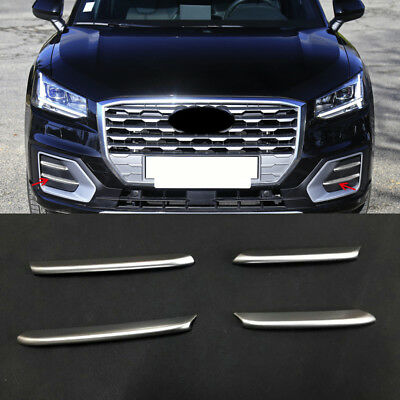 ABS Matte Font Fog Light Lamp Stripe Cover Trim 4pcs For Audi Q2 2016-2018