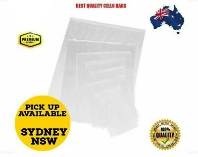 Clear Self Sealing Cellophane/Cello Sealable Plastic Bags Zip Locks 150x200mm