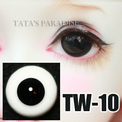 TATA glass eyes TW-10 18mm/16mm for BJD SD MSD 1/3 1/4 size doll use black