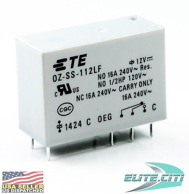 TE Connectivity Potter & Brumfield  OZ-SS-112LF 12VDC TE Relay NEW