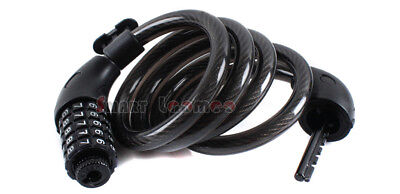Steel Cable Spiral Bike Bicycle Security Lock 5 Digit Code Combination 12X1200MM