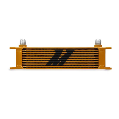Mishimoto Universal 10 Row Oil Cooler - Gold