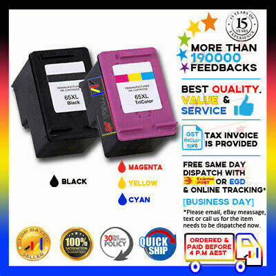 2x NEW HP 65XL Compatible Ink Cartridge fits for HP Envy 5034 5052 5055 5058