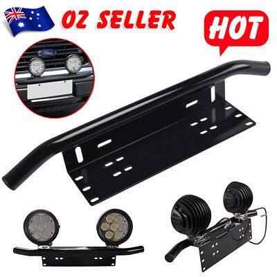 Number Plate Bull bar Frame For Driving Light Bar Mount Mounting Bracket OZ