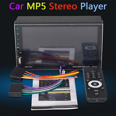 """2 Din 7"""" Car Stereo MP5 Player GPS NAV Touch Android 7.1 Bluetooth WiFi 1+16GB"""