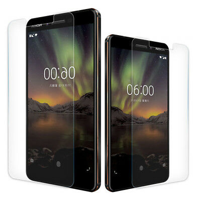 2 PACK Premium 9H Tempered Glass Screen Protector for Nokia 6.1/8 Sirocco/7 Plus