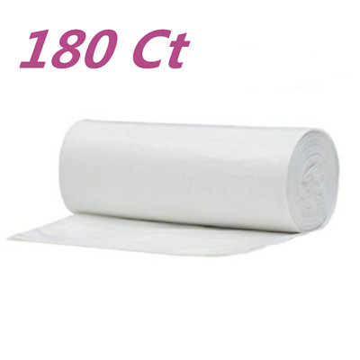 180 Strong 8 Gallon Commercial Kitchen Trash Bag 8 Gal Garbage Bag Yard Clear